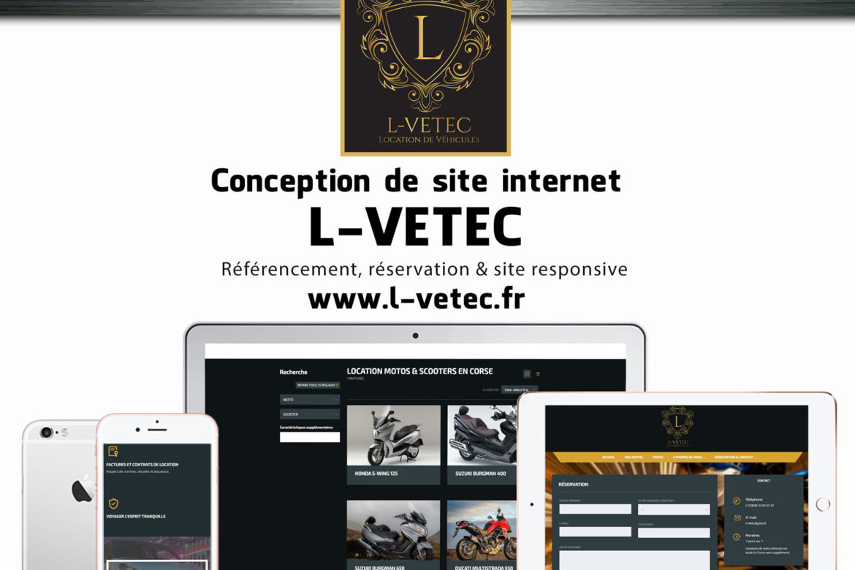 Creation site web u L-Vetec corse mockup