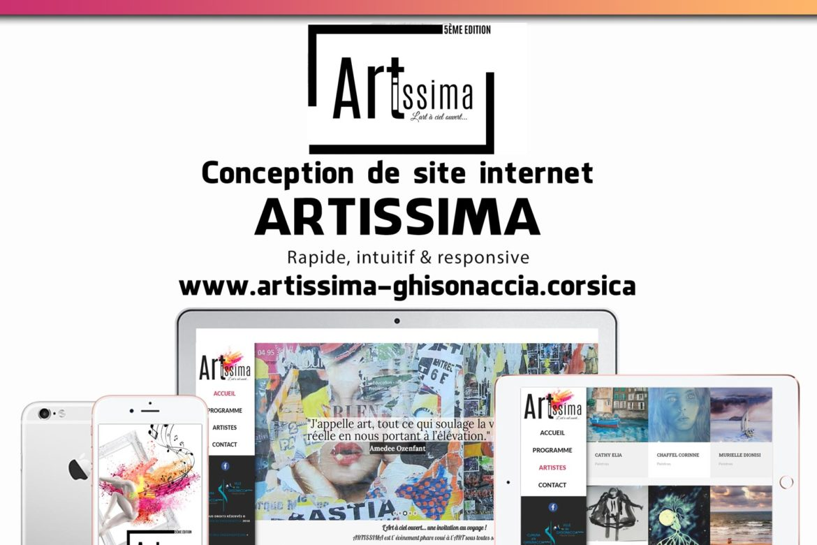 Creation site web Artissima corse mockup