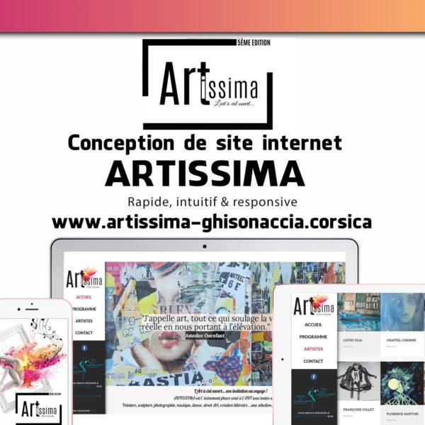 Creation site web Artissima corse mockup