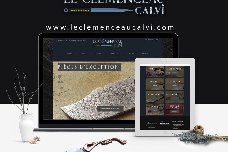 Creation site web Le Clemenceau Calvi corse mockup