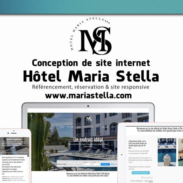 Creation site web Hotel Maria Stella corse mockup