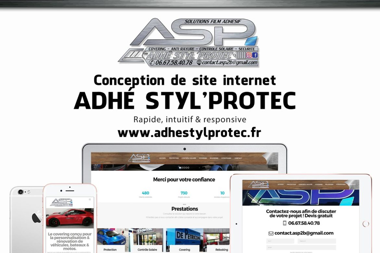 Creation site web Adhé Styl Protec corse mockup