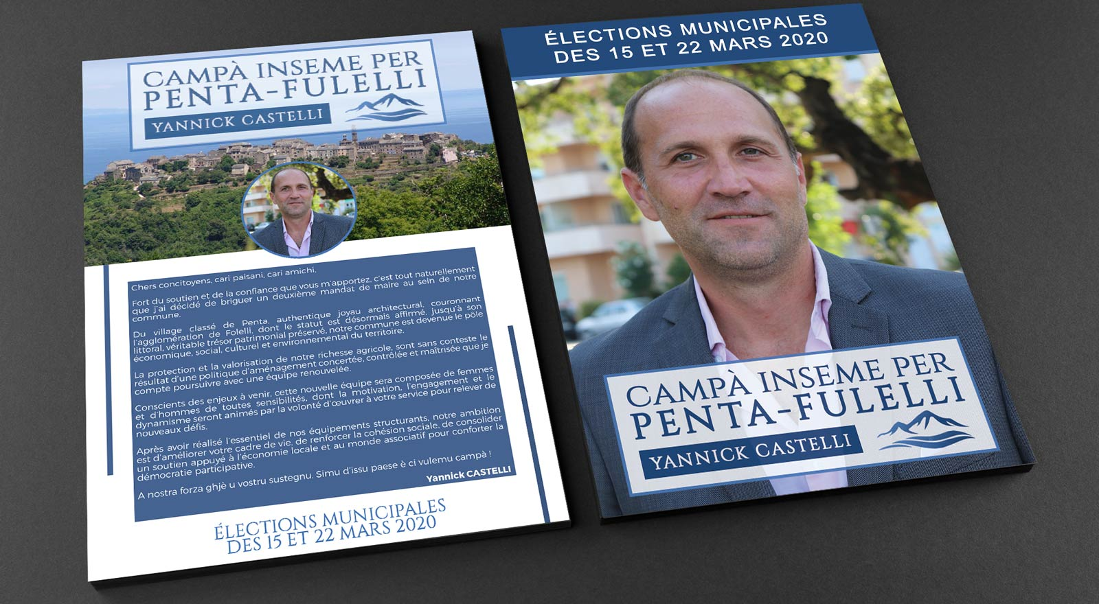 Communication Castelli corse mockup