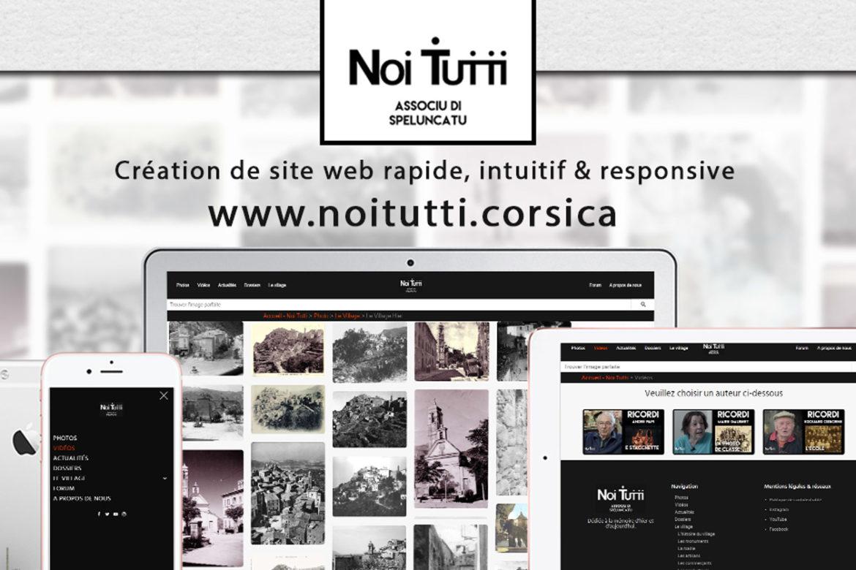 Creation site web Noi Tutti corse mockup