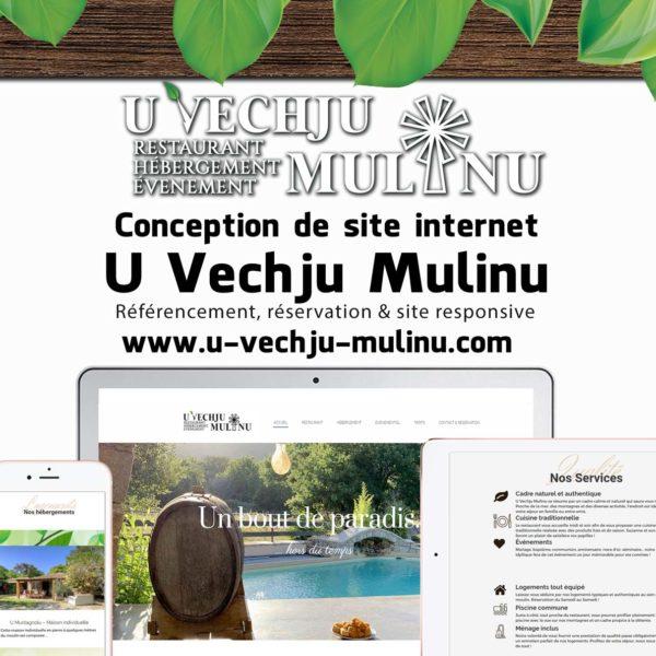 Creation site web u vechju mulinu corse mockup